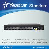 Yeastar fino all'estensione del telefono delle 100 SORSATE con la lan e la linea di accesso al centralino privato pallida Systemn (MyPBX Standtard) di VoIP