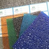 Feuille gravée en relief durable de polycarbonate de résistance de l'impact