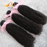 8A高品質の自然なカラーのモンゴルのバージンの毛のよこ糸