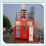 Hsjj의 Sale를 위한 2 Ton Capacity Per Cage를 가진 임시 Elevators