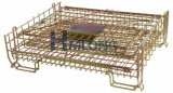Jaulas logísticas de acero plegables del alambre del almacenaje del almacén