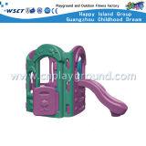 幼稚園の屋外のプラスチック運動場(M11-09101)のためのプラスチックスライド