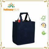 Non Woven Wine Tote Bag 6 Bottle Wine Tote Bag per Promotion