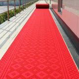 Azulejos suaves movidos hacia atrás caucho al aire libre de interior de la alfombra de la materia textil acanalada del PVC