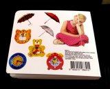 Impression de livre pour enfant de carton, impression de livre de panneau de gosses