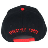 Оптовый красный плоский шлем Snapback панели вышивки 6 Brim