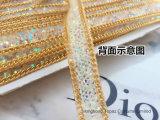 Maglia di cristallo della nuova di arrivo 1.6cm dei campioni liberi radura ab di larghezza sul nastro del Rhinestone della protezione della pelle scamosciata (striscia del HF-cristallo ab)