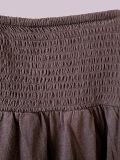Frauen-Form-Kleid-hohe Taille über Knie A - Zeile Kleid-Fußleiste