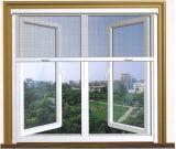 Indicador de vidro personalizado do Casement do PVC com a alta qualidade para a casa residencial (PCW-002)