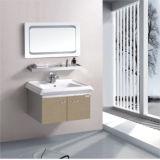 Einfacher Edelstahl-an der Wand befestigter Schrank mit Spiegel