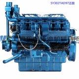 Motor diesel de 6 cilindros. Motor diesel de Shangai Dongfeng para el sistema de generador. 121kw