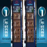 Puertas con bisagras de la aleación de aluminio con los accesorios del acero inoxidable