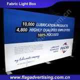 Ткань полиэфира сублимации краски рекламируя коробку СИД светлую, показывает светлую коробку