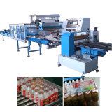 Machine de conditionnement rétractable de bouteilles à plusieurs rangées de films plus larges
