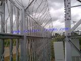Горячая окунутая гальванизированная загородка Palisade для башни телекоммуникаций