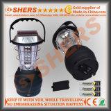 36 LED de luz solar para acampar con Dynamo Cranking Outlet USB (SH-1990A)