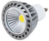 220V GU10 5W COB LED de luz con la astilla de aluminio