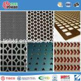 Лист нержавеющей стали металлопластинчатого круглого отверстия 316L/304 Perforated