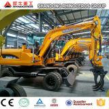 Excavatrice de roue de la qualité 6t 0.25cbm d'approvisionnement d'usine
