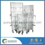Grille en aluminium pliable et extensible avec le tube circulaire