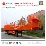 Chinese Fabricado Utility 70tons Stake / Cerca Semi Reboque Truck
