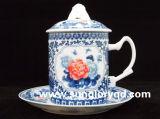 Чашка Китая косточки с крышкой GB024