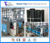 Linea di produzione ondulata rilevata in anticipo del tubo del ponticello dell'HDPE/PVC, macchina di plastica del tubo