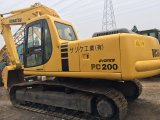 KOMATSU usada 20 precio y condición hidráulicos del excavador PC200-6 mejores PC220-6 de la correa eslabonada de la tonelada