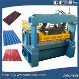 L'acier ondulé coloré laminent à froid former la machine pour l'exportation