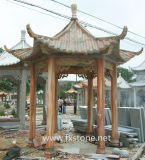 Chinese Traditionele Gesneden Steen Gazebo