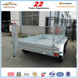 8X5 Galvanizado Single Axle Tipping Box Trailer