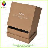 Empfindliches Schwarzes, das steifen Geschenk-Duftstoff-Kasten mit weißem Firmenzeichen verpackt