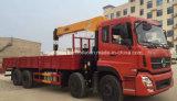 4 camion lourd de charge de la grue de Dongfeng d'essieux 8X4 monté avec la grue