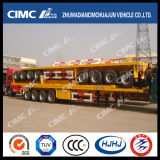 reboque Flatbed do recipiente 3axle com Cimc tipo de Huajun (2/3UNITS COMO 1SET)