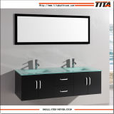 Glass Tempered Basin Bathroom Cabinet per Two Persons T9001j