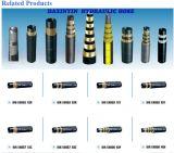 Boyau hydraulique en caoutchouc développé en spirales flexible de pouce de pouce 50mm du logo En856 4sh 2 d'Eebossed