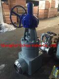 Vanne à gaz à bride à joint d'acier moulé