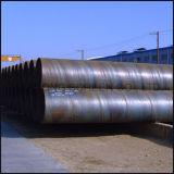 Pipe soudée spiralée galvanisée d'acier du carbone de pipe en acier