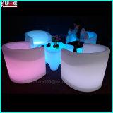 Color recargable que cambia el vector y la silla del LED con teledirigido