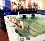 Portable style simple acrylique sanitaire Baignoire de massage