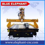 Una macchina di scultura di legno rotativa di 4 assi di Ele 2030, tagliatrice di CNC dei 3 assi di rotazione per le scale di legno