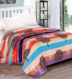 Cobertor coral impresso Sr-B170219-57 impresso macio super do velo do cobertor da flanela