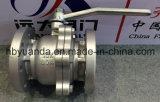 Vávula de bola sin reducción en la sección de paso de la PC del arrabio 2 de JIS 10K Q41F-10K