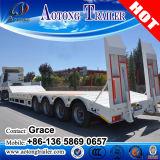 販売のための中国の製造業者80t 4の車軸低いベッド/半Lowboyの低いローダーのトラックのトレーラー