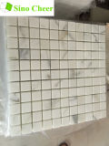 Quadratische Calacatta Goldmarmor-Mosaik-Fliese