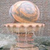 Runde Kugel-schnitzender Wasser-Steinbrunnen