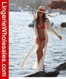 Strand-Feiertags-lange Vertuschung-Chiffon- Kleid der reizvollen Frauen