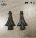Fers de lance décoratifs de balustre de Finials de barrière de fer travaillé de qualité