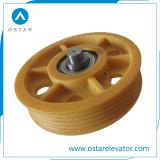 Polea de deflector de nylon, polea de desvío, piezas de ascensor (OS13)