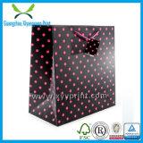Venta al por mayor de encargo del bolso del regalo del negro del bolso del regalo del papel de la joyería de la boda